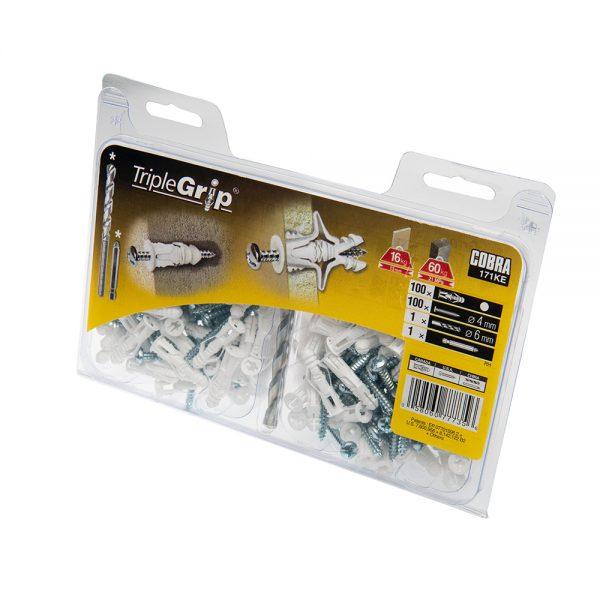 4mm Cobra White Triple Grip, 100 Pack