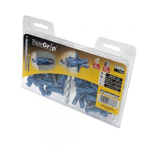 5mm Cobra Blue Triple Grip, 70 Pack