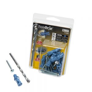 5mm Cobra Blue Triple Grip, 10 Pack