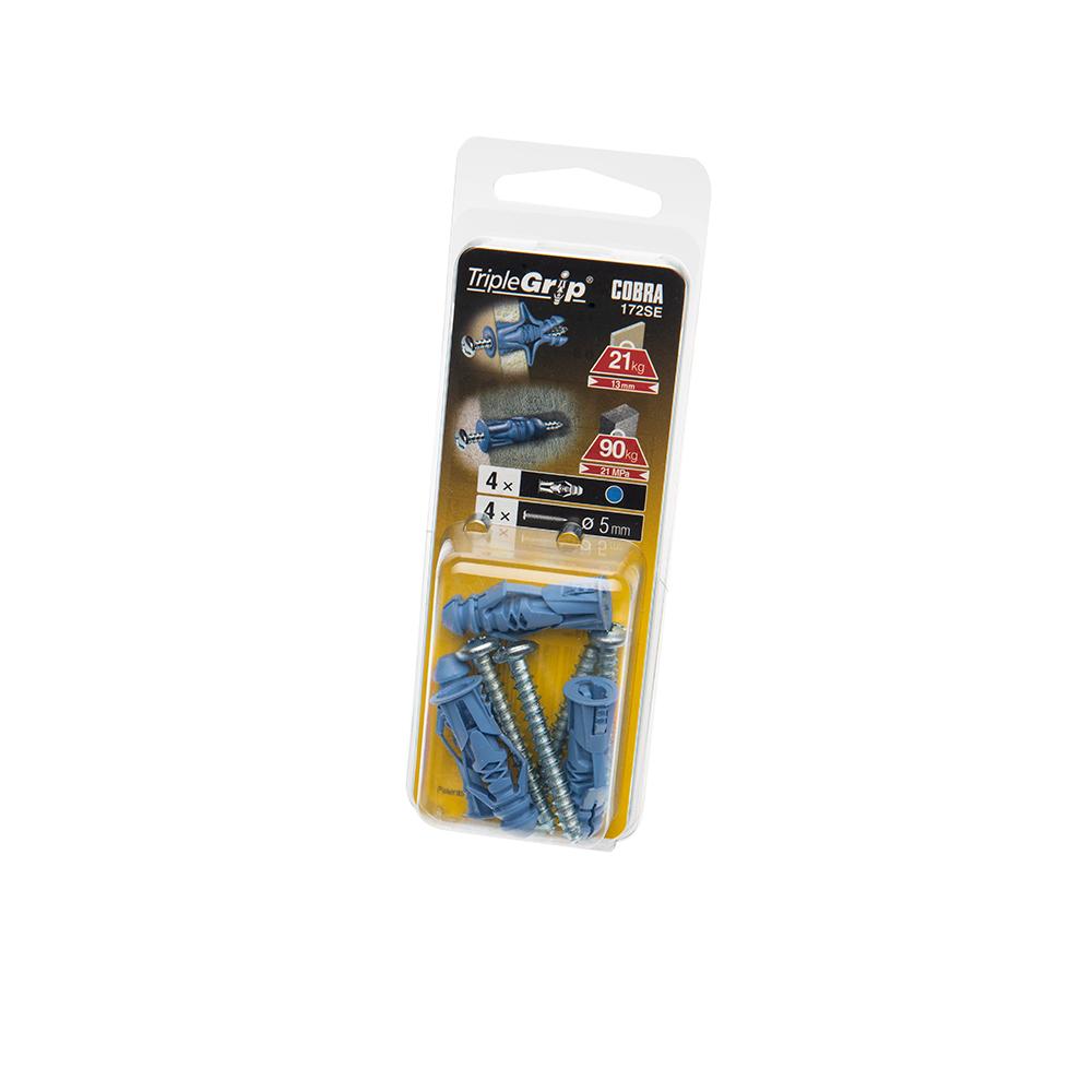 5mm Cobra Blue Triple Grip, 4 Pack