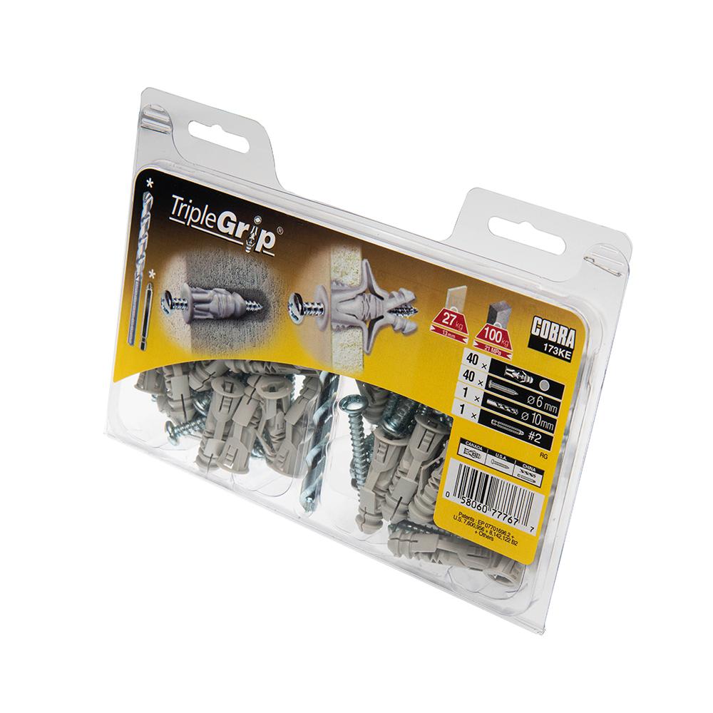 6mm Cobra Grey Triple Grip, 40 Pack