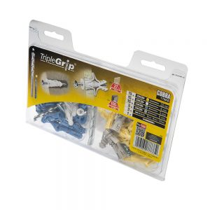 Cobra Yellow, White, Blue & Grey Triple Grip, 50 Multi Pack