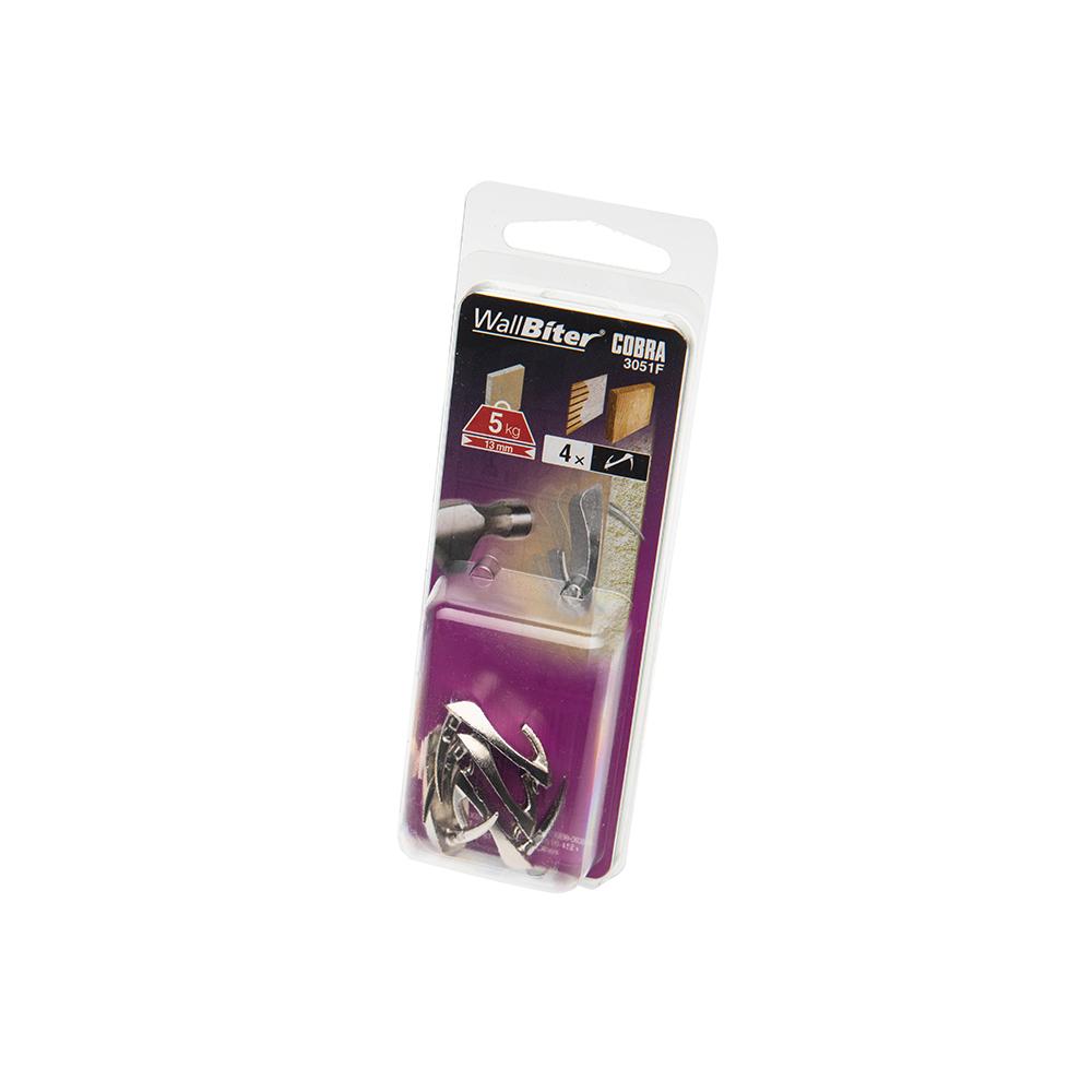 Cobra WallBiter Nickel Medium 4 Pack